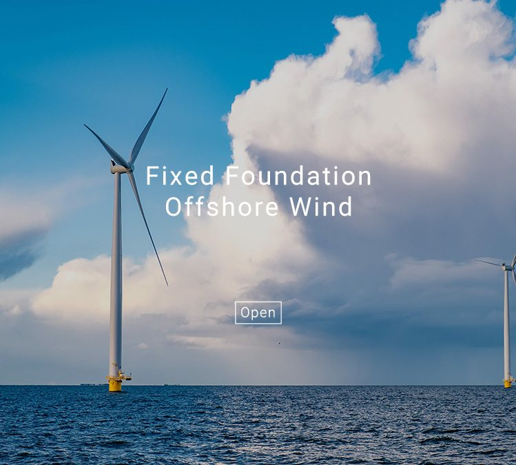 Fixed Foundation Offshore Wind with Text